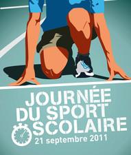 Affiche de la journée du sport scolaire 2011
