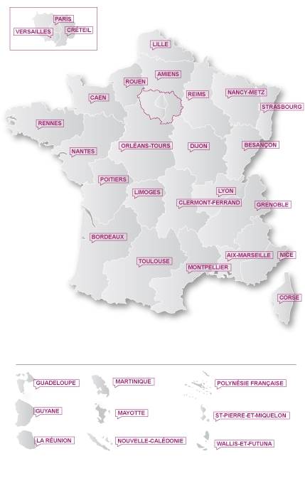carte acad&eacute;mique