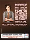 Affiche campagne homophobie