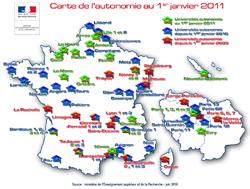 carte autonomie janvier 2011
