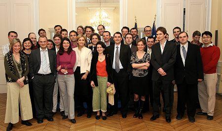 Valérie Pécresse, Ministre de l'Enseignement Supérieur et de la Recherche, with the winners of ERC (European Research Council)
